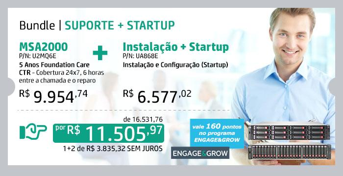 HPE em Foco -- Bundle | Suporte + Startup | MSA2000 | 5y Foundation CTR | P/N: U2MQ6E --- Instalação + Startup | P/N: UA868E