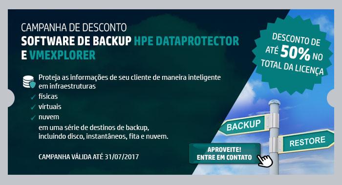 INGRAM MICRO - HPE em Foco -- CAMPANHA DE DESCONTO  SOFTWARE DE BACKUP HPE DATAPROTECTOR E VMEXPLORER | Proteja as informações de seu cliente de maneira inteligente em infraestruturas | físicas | virtuais | nuvem | em uma série de destinos de backup, incluindo disco, instantâneos, fita e nuvem. | CAMPANHA VÁLIDA ATÉ 31/07/2017