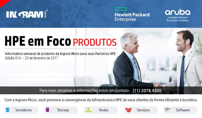INGRAM MICRO - HPE em Foco -- Informativo semanal da Ingram Micro para seus Parceiros HPE   Com a Ingram Micro, você promove a convergência da infraestrutura HPE de seus clientes de forma eficiente e lucrativa.